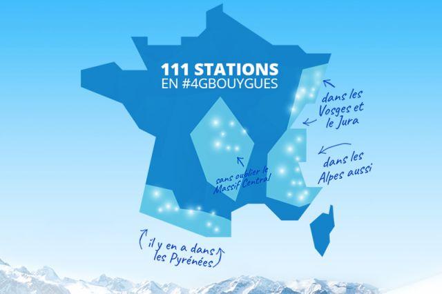 La 4g de bouygues telecom accessible dans 111 stations de for 4g haute savoie
