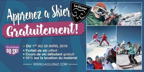 Pour bien débuter La Clusaz vous offre vos premières rencontres avec les pistes de ski