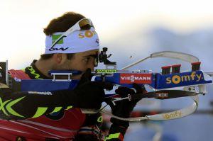 La France avec Martin Fourcade championne du monde de relais mixte de biathlon