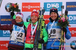Biathlon - Anais Chevalier encore sur le podium en Coupe du monde